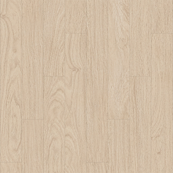 Oak texture pattern and neutral color create bright and natural space.